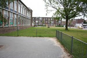 school veldje aan de voorkant